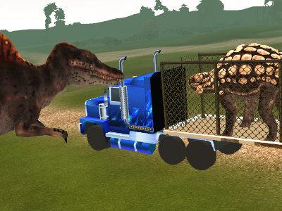 เกมส์ขับรถส่งไดโนเสาร์ Dino Transport