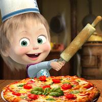 เกมส์ทำพิซซ่ากับมาช่า Masha And The Bear Pizzeria