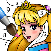 เกมส์ระบายสีเจ้าหญิงตามตัวเลข