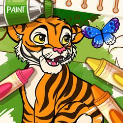 เกมส์ระบายสีสัตว์ป่า