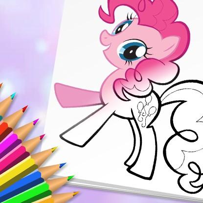 เกมส์ระบายสีม้าโพนี่ Cute Pony Coloring Book