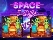 เกมส์จับผิดภาพการ์ตูนอวกาศ 5 จุด