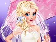 เกมส์แต่งตัวเจ้าสาวเอลซ่าในฤดูฝน