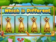 เกมส์หาภาพสัตว์ที่แตกต่าง